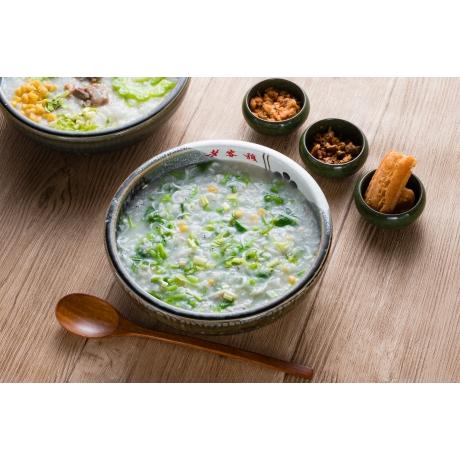 時蔬銀魚粥
